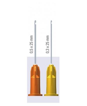 Endo irigacinės adatos, su vienpusėmis švirkštimo angomis, plonasienės*, sterilios